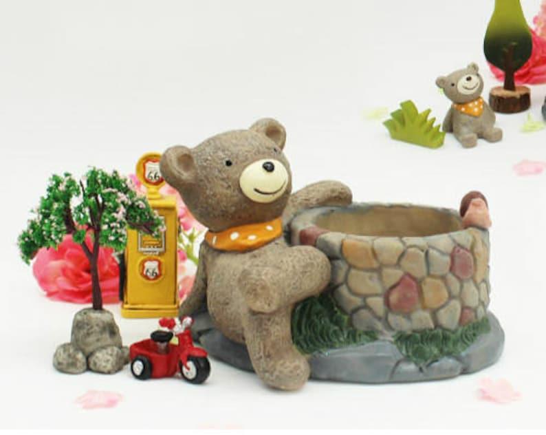 Little Cute Bear Planter Succulent Planter Terrarium image 0