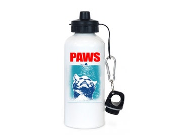 Cat Water Bottle   Cat Gifts   PAWS Kitten Parody   Gifts For Cats Lovers   Funny Water Bottles   Gifts For Cat Lovers   20 Ounces