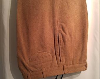 Gorgeous Bill's Khakis Herringbone Tweed Wool-Blend Slacks (34/32)