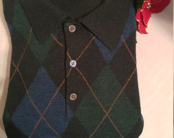 Classic Brooks Brothers L/S Polo-Style Wool Sweater (L)