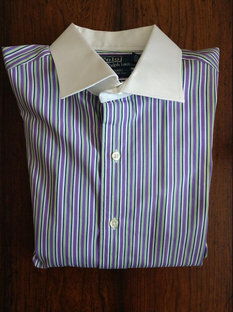 179f4071c Classic Ralph Lauren Regent Contrast Collar Dress Shirt