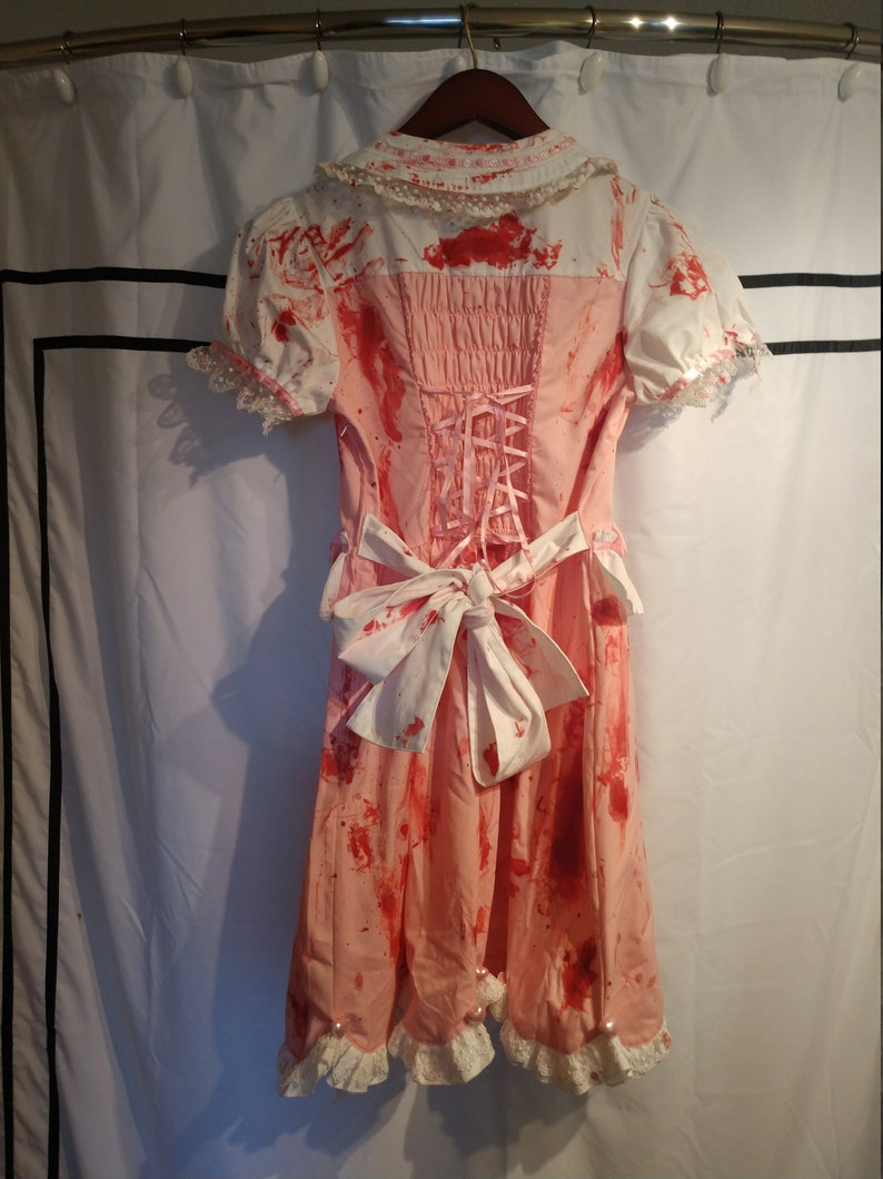 Zombie Crawl Dress by Body Line /& Upcycled with Faux Blood in Good Condition