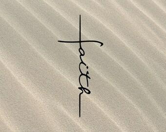 Faith Cross SVG Christian Jesus Religious Cut File Bible Verse Files Walk By Faith Cross Blessed God Faith Over Fear DXF Vector Bundle