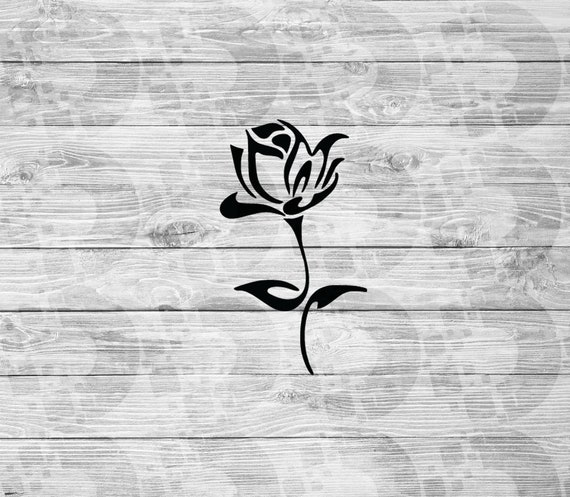 Svg rose spring roses vector cricut dxf cut file files outline etsy image 0 mightylinksfo