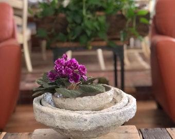 Paper Mache Bowl, vintage bowl, decorative bowl, rustic decor, home decor, rustic dish, bowl, antique bowl, fruit bowl