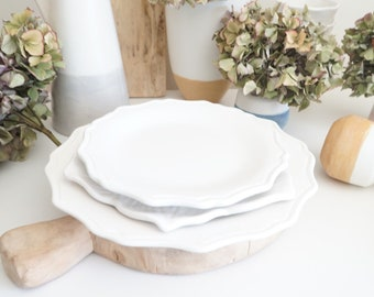 Salad Plate, Dessert Plate, Dalmation, Ceramic Plate, Designer Plates, Serving plate, Cheese Plate, Bread Plate, curved plate