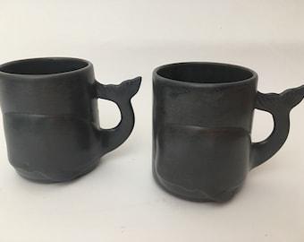 Whale Mugs, Coffee mugs, Mugs, Nautical Mugs, Nautical Coffee Mugs, Cottage Decor, Nautical Decor, Beach Decor, Blue Mugs, Ceramic Mugs