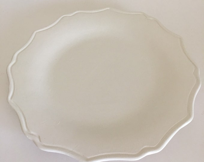 Dinner Plate, Dinnerware, White Dinnerware, Scalloped Plate, Farmhouse Dinnerware, Cottage Dinnerware, Plate, Plates