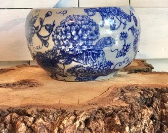 Ceramic Bowl, pottery dish, designer bowl, collective bowl, blue and white pot, blue and white bowl, stoneware, ceramic pot, blue pot