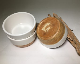 Ceramic Bowls, Condiment Bowls, Dessert Bowls, Candy Dish, Two-tone, Stackable, Pottery Bowl, Pottery Dish, Farmhouse Bowl, Farmhouse Decor