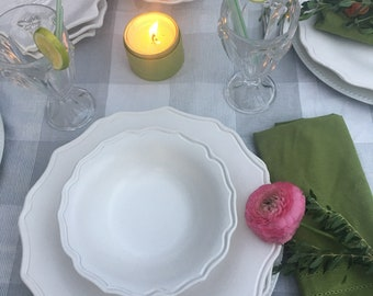 Dinnerware, Scallop Plate, Dinner Plates, Cottage Dishes, Tableware, Table Decor, Dishes