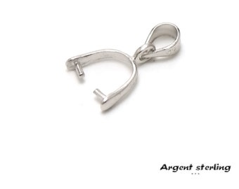 1 support for removable pendant, 925 sterling silver