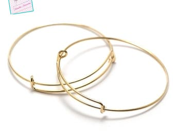"4 brackets ""Bangle"" bracelet, gold"