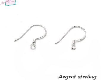 2 Silver 925 earring hooks