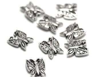 """""""10 pearls"""" Butterfly """"11 x 9 x 3 mm, silver, A 019"""