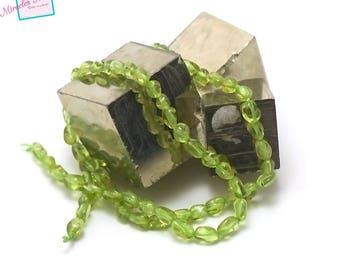 "Peridot pearls ""mini baroque Pebble"", natural stone"