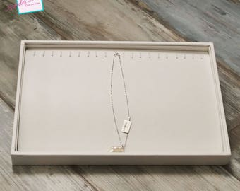 Display great trays for necklace/bracelet 35 x 24 x 3 cm, white cardstock