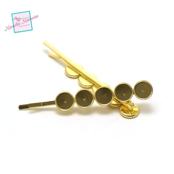 bronze quintuple 1 bracelet supports cabochon round 12 mm