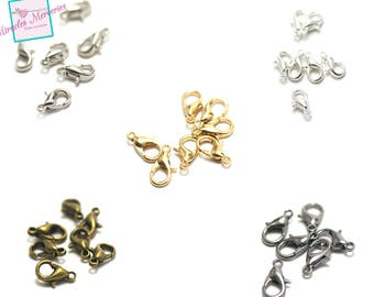 20/100 lobster claw clasps, 3 sizes / colors to choose from 5