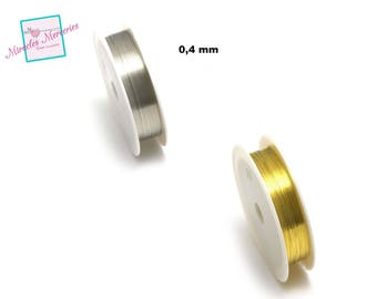 1 reel of copper wire (10 m x 0.4 mm), gold/silver