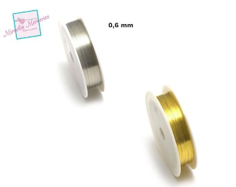 1 reel of copper wire (10 m x 0.6 mm), gold/silver