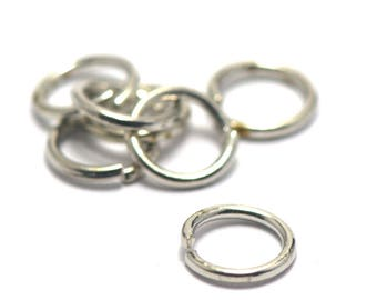 100 split rings 8 mm silver