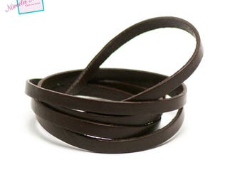 genuine 6 mm Brown leather cord 1 m