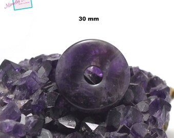 """natural stone, 1 Amethyst pendant in """"donuts 30 mm"""""""