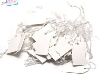 50 25 x 13 mm, white cardboard price tags