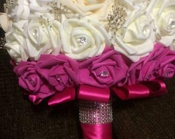 Foam Rose Brooch Bouquet
