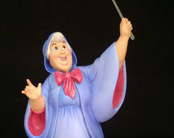 "FAIRY GODMOTHER ""Bibbidi, Bobbidi, Boo (New) +Free Gift +Free Shipping – Walt Disney Collectors Society – Special Event Piece. (#41108)"