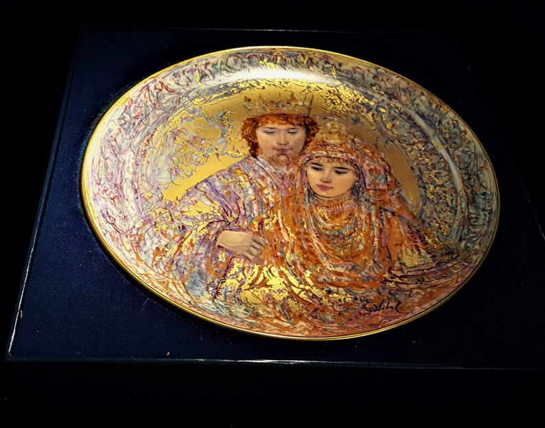 WEDDING of DAVID /& BATHSHEBA Collectors Plate by Edna Hibel Free Gift Shared Shipping 1st Edition in the David Series