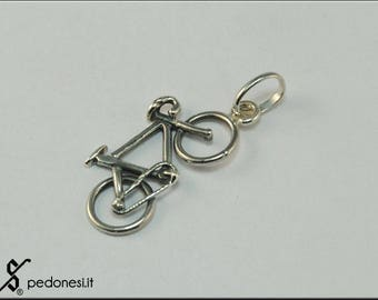925/1000 silver racing bicycle pendant