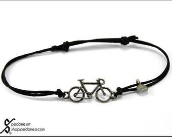 Silver racing bicycle bracelet 925/1000