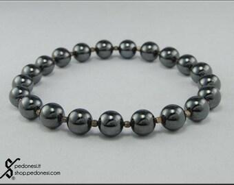 Elastic Bracelet with Hematite