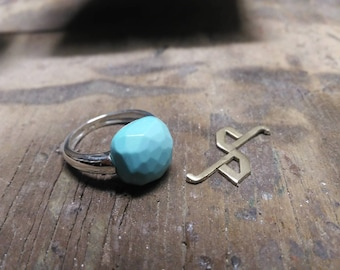 Silver ring 925/1000 and Turquoise Pasta