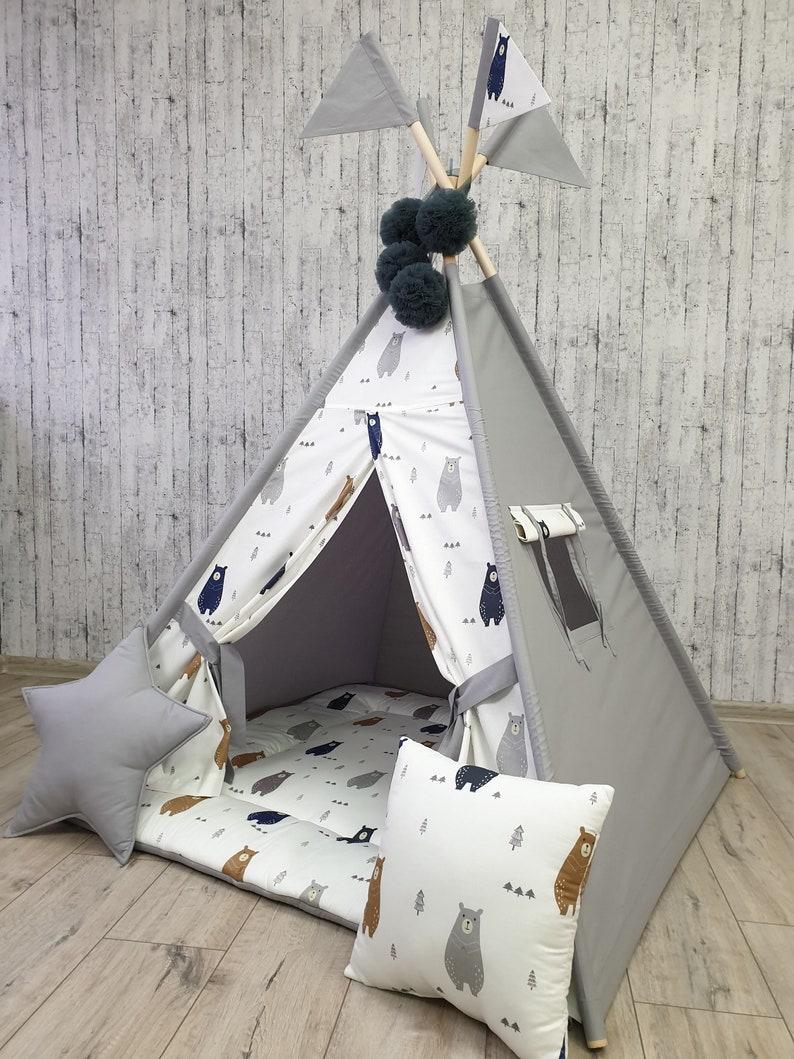 Kids Teepee Childrens Teepee Wigwam Tipi Tent Play Teepee Teepee Play tent Playhouse Kids Wigwam