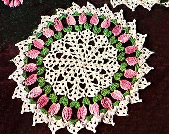 """Vintage American Thread Crocheted  Doily """"Picot Point"""" Doily   8 1/2 """" Diameter *PDF Instant Download*"""