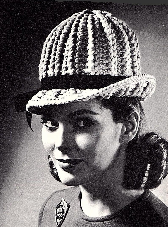Women/'s Crocheted Hat Crocheting Pattern *PDF Instant Download*