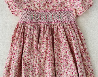 f87ff1686 Girls Smocked Dress, Girls Dress, Victorian Smocked Dress, Princess Smocked  Dress, Smocked Dress, Flower Smocked Dress