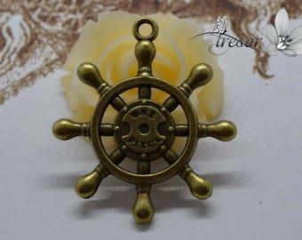 1pcs QWP155 bronze charms, anchor, ship, boat