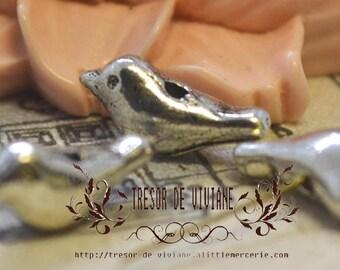 set of 10 YDZ005 pendant, silver birds