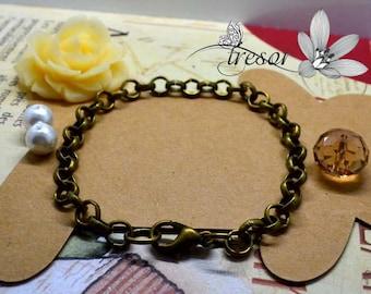 Bronze chains, Bracelet, 20mm, largeur6mm