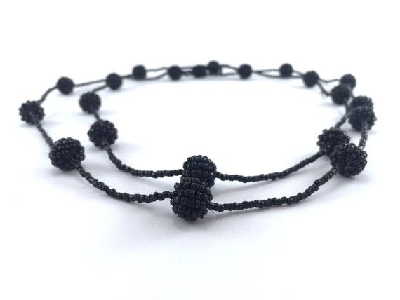 Flapper Necklace Little Black Dress Accessory Fune
