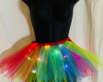 d42ac96c08 Rainbow LED tutu (5-14yrs)