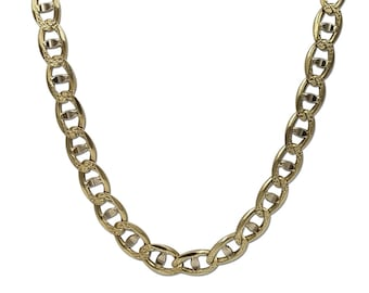 Thick Two Tone Necklace, Two Tone Oro King Thick Necklace, Unisex Thick Oro King Necklace 14K Oro King Solid Gold