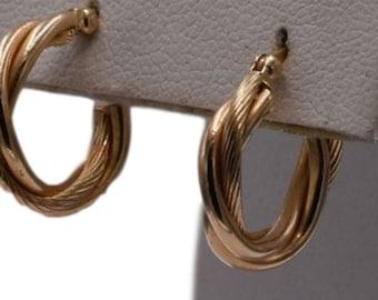 14k Hoop Earrings, 14k Hollow Gold Hoop Earrings, Light Weight Gold Earrings, Women's Gift