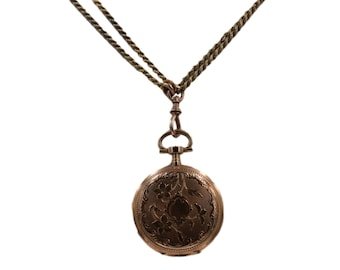 Necklace Locket, Paris Geneve locket, 14K Solid Yellow Gold Beautiful Handmade Locket, Vintage Paris Locket