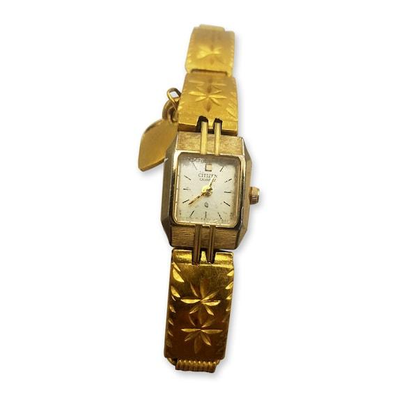 416dc0460506 Valentine s Day Gift 24k Vintage Gold Citizen Watch   Etsy