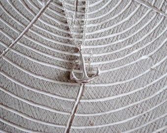 Anchor Necklace - Silver Anchor - Nautical Anchor - Nautical Necklace